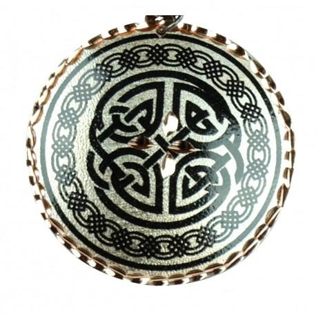Pendentif oriental original en cuivre Vafa noir