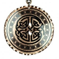 Pendentif rond en cuivre artisanal Vafa