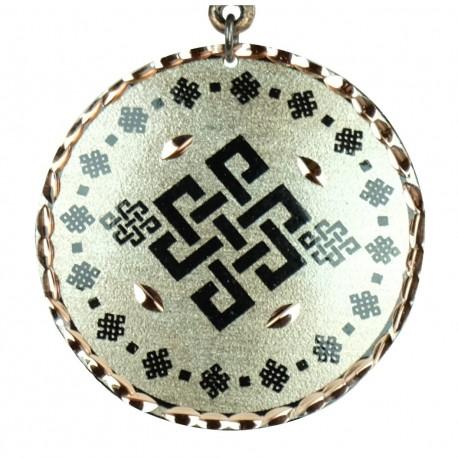 Collier tribal en cuivre argenté Yashar