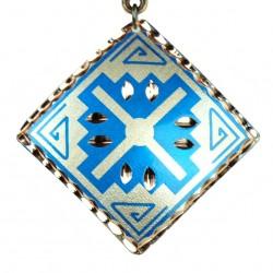 Pendentif Oriental en Cuivre Arash Bleu