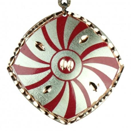 Collier fantaisie rouge en cuivre Dânâ