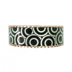 Bracelet fantaisie en cuivre Turaj noir