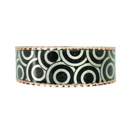 Bracelet fantaisie noir en cuivre Turaj, Idée cadeau d'anniversaire