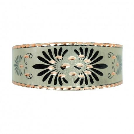Bracelet bohème argenté fait main Ariane
