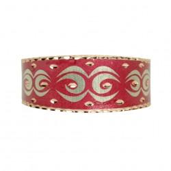 Bracelet ethnique Daria rouge