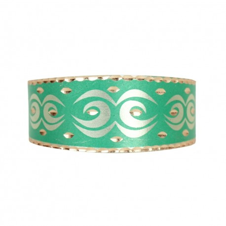 Bracelet ethnique vert en cuivre Daria