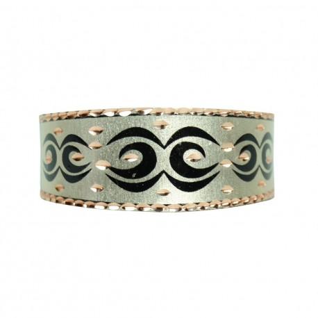 Bracelet tribal argenté en cuivre Daria