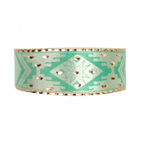 Bracelet oriental vert fait main en cuivre Feriel