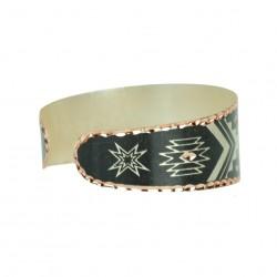 Bracelet ethnique en cuivre Feriel noir