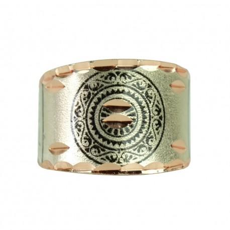Bague artisanale argentée en cuivre Cyrus par KaravaneSerail
