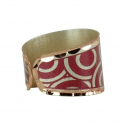 Bague rouge en cuivre Turaj