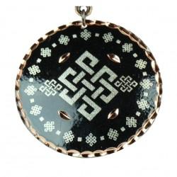Pendentif noir fantaisie en cuivre Yashar Noir style ethnique