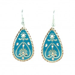 Boucles d'oreilles en goutte d'eau Beeta turquoises