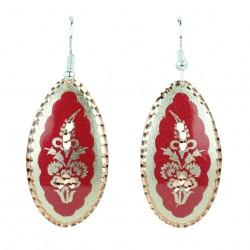 Boucles d'oreille ethniques rouges Laleh