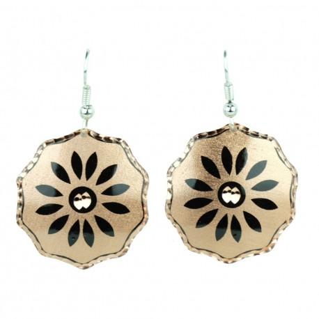 Boucles d'oreille en cuivre artisanales Saeedeh décor bohème