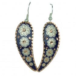 Boucles d'oreilles orientales artisanales Ladan violettes