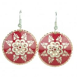 Boucles d'oreilles orientales Esther rouges