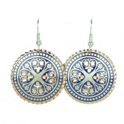 Bijoux orientaux, Boucles d'oreilles Atoosha violettes