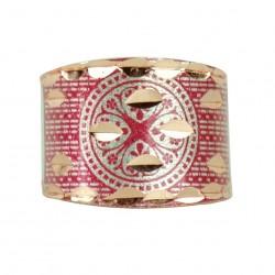 Bague en cuivre Kasra rouge, un cadeau artisanal