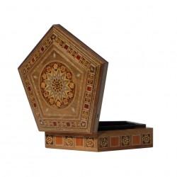 Belle boîte en bois et marqueterie Nephtys