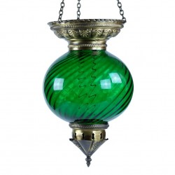Grande lanterne orientale verte Nergal, décoration orientale