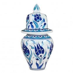 Pot bleu Necla 15cm