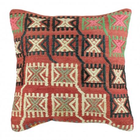 Coussin vintage en kilim ethnique Kolon B008