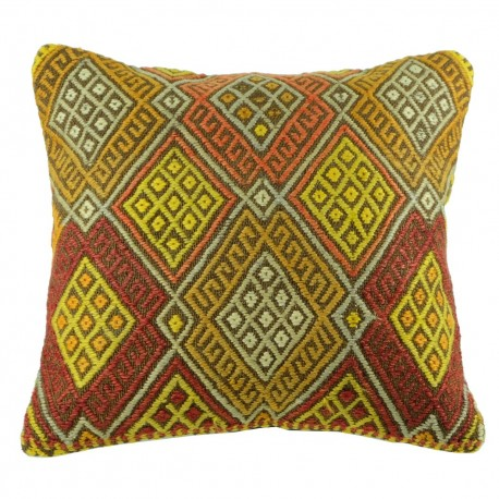 Coussin décoratif en kilim de Turquie Kolon B035