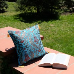 Coussin oriental turquoise Galatia