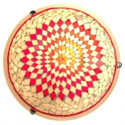 Plafonnier oriental marocain Eshtan mosaique rouge