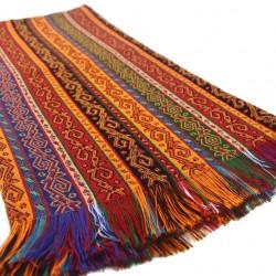 Tissu décoratif Batys 2m, design exotique ethnique coloré (jaune, rouge, noir, bleu, vert...)