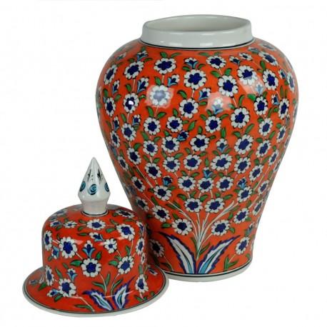 Cadeau luxe, jarre shah orange Vichné 40cm