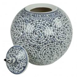 Cadeau chic, pot rond Hava 20cm en porcelaine turque