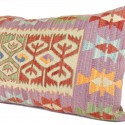 Coussin artisanal violet Tyana