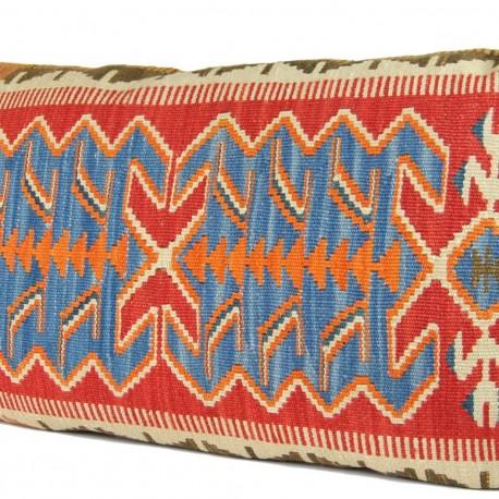 Coussin bohème kilim 100x60 Edesse, décoration bohème