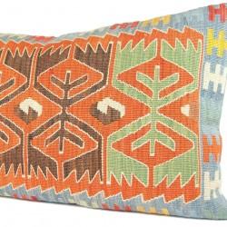 Coussin déco bohème en kilim artisanal Cybira