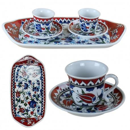 Service à café oriental Ceylan en porcelaine Iznik