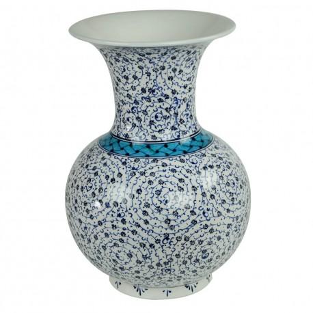 Beau vase Iznik oriental Hava 30cm, céramique décorée de spirales
