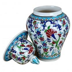 Urne orientale artisanale Ceylan 30cm