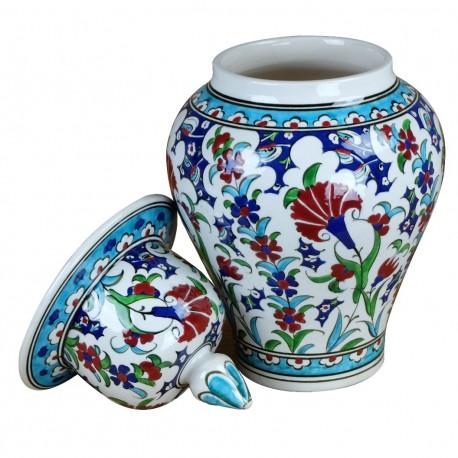 Urne orientale artisanale Ceylan 30cm, idée cadeau original,