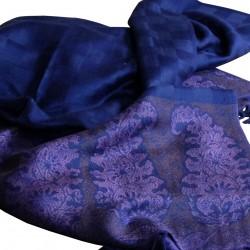 Étole pashmina bleu nuit Hayal