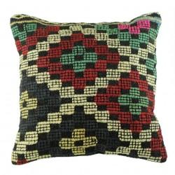 Coussin design nomade Kolon B058 en kilim vintage artisanal