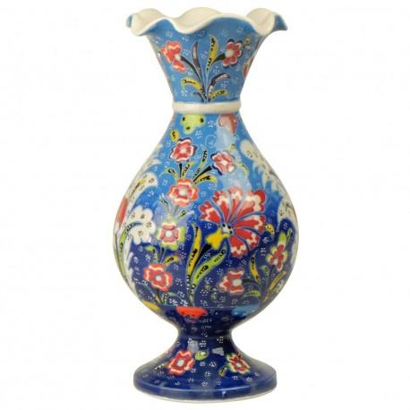 Vase décoratif bleu Alis bleu 20cm, design original
