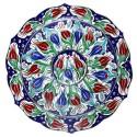 Assiette turque Lalé 30cm décoré de tulipes