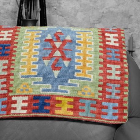 Grand coussin bohème en kilim coloré Milid par KaravaneSerail