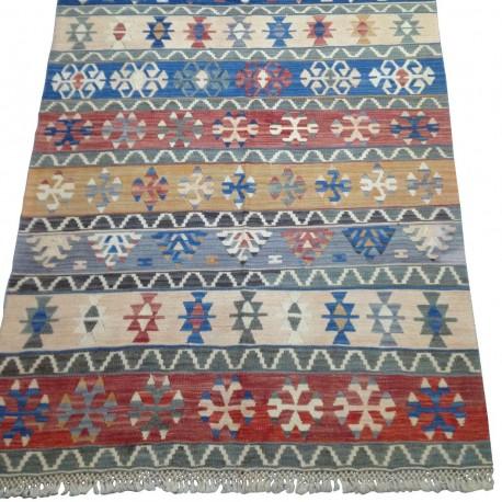 Tapis vintage kilim artisanal de Turquie K5