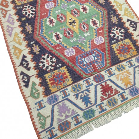 Tapis ethnique multicolore S17