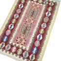 Petit tapis oriental rose et blanc C35