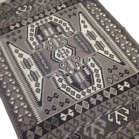 Tapis Kilim Gris, Design Vintage, Look Moderne K16