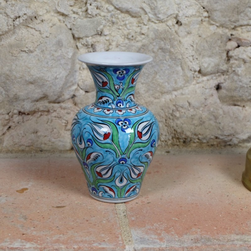 vase turquoise derya. Black Bedroom Furniture Sets. Home Design Ideas